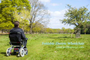 Leading Foldable Lightweight Electric Wheelchair pictures & photos