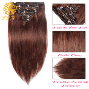 China clip in human hair extensions brown color 7 8 10 pieces 70g clip in human hair extensions brown color 7 8 10 pieces 70g 100g best 7a quality 100 real human remy hair extensions clip on pmusecretfo Images