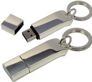 Metal Keychain USB Flash Memory U Disk with Logo pictures & photos