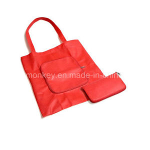 Non Woven Foldable Promotion Bag Zipper Closure pictures & photos