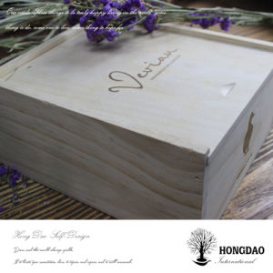 Hongdao Customized Pine Wood and MDF Wood Box with Hot Stamped Logo pictures & photos