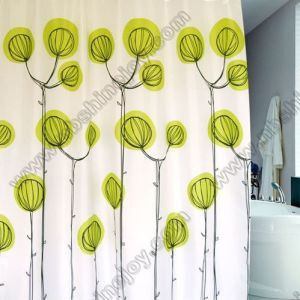 Spring Flower Polyester Shower Curtain pictures & photos