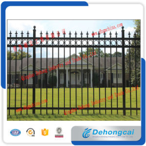 Wrought Iron Fence with Powder Coating Based on Self-Color pictures & photos