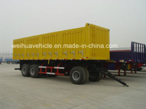 3 Axles Side Wall Full Trailer for 50t Cargo Transport pictures & photos
