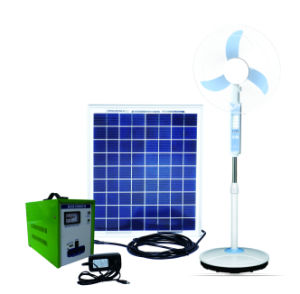 Solar and Light Rechargeable Emergency DC Stand Fan pictures & photos