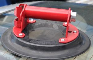"""Pump Type 9"""" Glass Suction Cup for All Nature Rubber"""