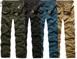 2014 New Fashion Men Cargo Pants with Side Pockets pictures & photos