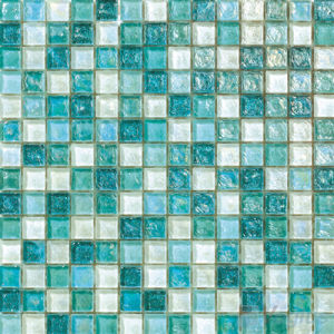 Green Mixed Glazed Iridescent Swimming Pool Mosaic