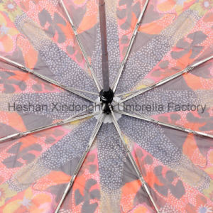 Heat Transfer Printing Automatic Folding Umbrella (FU-3821ZFA) pictures & photos