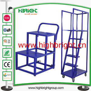 China Metal Ladder Hand Cart For Supermaket And Warehouse