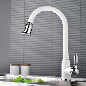 Wotai White Pull out Kitchen Sink Faucet pictures & photos