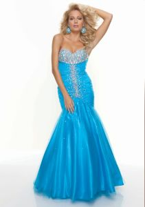 Beaded Bodice Mermaid Sweetheart Prom Dresses (PD3019) pictures & photos