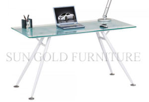 Glass Top Steel Foot Modern Computer Desk (SZ-OD237) pictures & photos