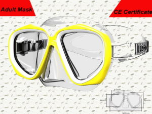 Low Volume Transparent Professional Liquid Silicone Diving Goggles (MK-204) pictures & photos
