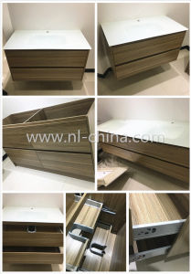 2017 New Design Modern Style PVC Oak Bathroom Vanity with Mirror pictures & photos