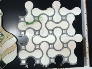 White and Grey Lantern Tile Marble Mosaic pictures & photos
