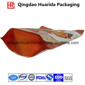 Aluminum Foil Bottom Gusset Food Packaging Bag with Zipper pictures & photos