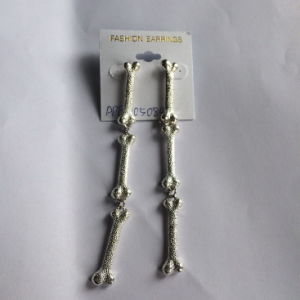 Long Bone Metal Silver Earring Fashion Jewelry Wholesale