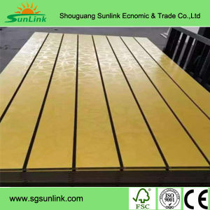 Melamine Laminated Grooved MDF Board pictures & photos
