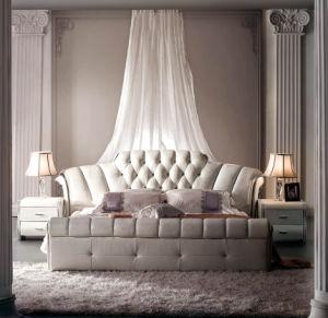 Newest Model Furniture Bedroom Leather Bed 675#