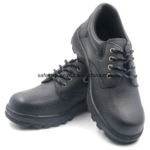 Rubber Outsole Split Leather Cheap Steel Toe Protective Shoes pictures & photos