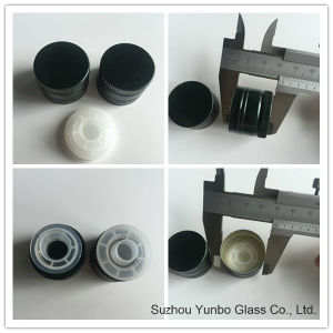 Quality Aluminum Olive Oil Bottle Cap with Plastic Reducer Insert Pourer pictures & photos
