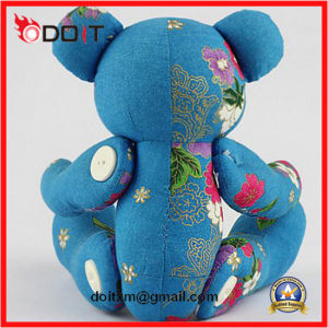 Blue Embrodiery Clothes Jointed Bear with Movable Arms and Legs pictures & photos