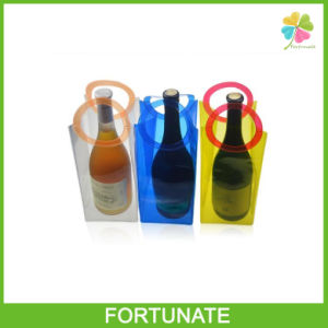 Christmas Gift Portable Plastic Wine Cooler Ice Buckets Bag pictures & photos