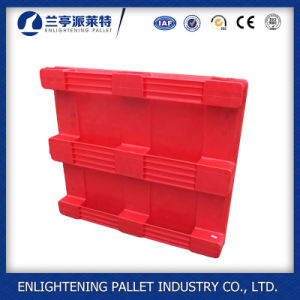 Heavy Duty Flat Single Sides Food Plastic Pallet for Sale pictures & photos