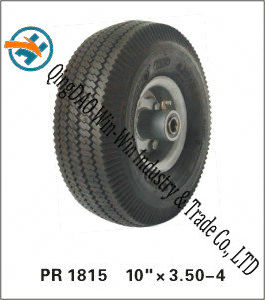 Black Rubber Wheel for Handtruck Assembly (10*3.50-4) pictures & photos