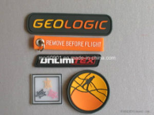 Silicone Soft Silicone PVC Rubber Patch with Hook & Loop Backing pictures & photos