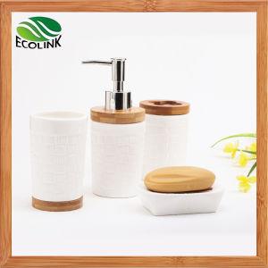 Bamboo Ceramic Bathroom Set / Bathroom Accessories Set pictures & photos