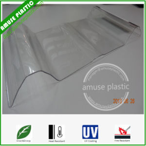 Clear Hard Thin Corrugated Plastic Polycarbonate Greenhouse Roofing Sheets pictures & photos