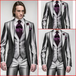 Custom Made Men Suits Formal Groom Tuxedo for 4 Pieces-Coat+Pants+Vest+Necktie Wedding Evening Man Suit M-I-C (3) pictures & photos