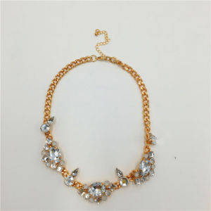 Fashion Glass Stone Necklace Alloy Necklace Jewelry