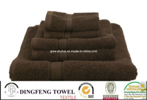 100% Cotton Hotel Towel Set with Satinborder pictures & photos