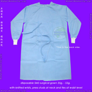 Disposable PP Gown with Back-Closing Ties pictures & photos