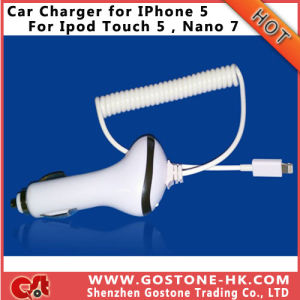 2013 Newest Car Charger for iPhone 5 / iPod Touch 5 / iPod Nano 7/for iPad 4 / iPad Mini Factory Price