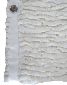 Women Long Faux Fur Fake Fur Coat with Buttons pictures & photos