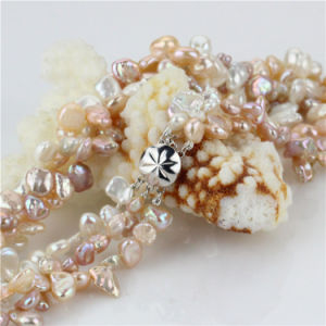 Snh Mixed 6mm Keshi Color Natural Freshwater Pearl Set pictures & photos