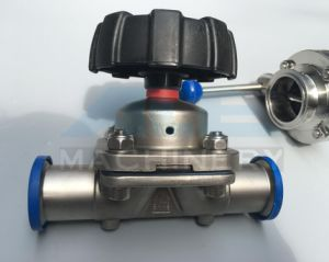 Sanitary Stainless Steel 3 Way U Type Diaphragm Valve (ACE-GMF-W1) pictures & photos