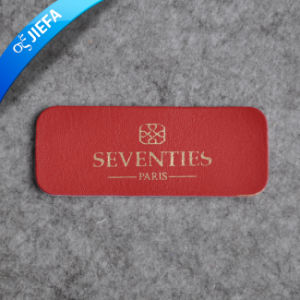 High Quality Custom PU Leather Label for Jeans pictures & photos