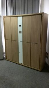 Wood Surface Wardrobe Steel Cloth Locker pictures & photos