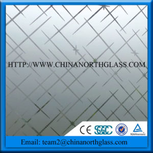Safety Decorative Frosted Tempered Glass Price for Shower Wall pictures & photos