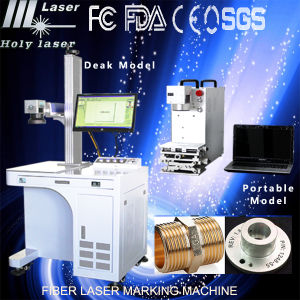 Lowest Price Portable Metal and Nonmetal Fiber Laser Marking Maker Machines pictures & photos