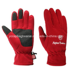 Warm Winter Micro Fleece Winter Ski Glove pictures & photos