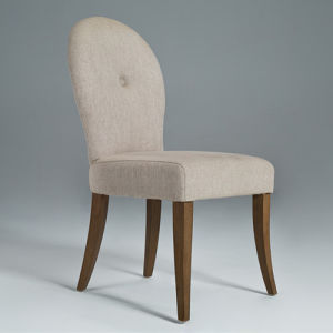 Wooden and Linen Fabric Dining Chair Restaaurant Chair (GK6001)