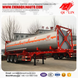 3 Axles ISO 40FT Container Tanker Semi Trailer for Kenya pictures & photos