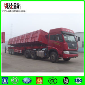 3 Axle 60ton Side Tipper Truck Semi Trailer pictures & photos
