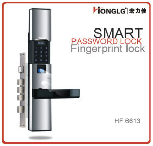 Honglg Sliding Cover Fingerprint Door Lock System pictures & photos